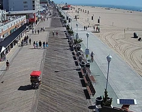 Ocean City Boardwalk Shark-Eye Cam